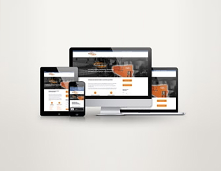 Screenshots of new ProQuip Industrial Mixers website