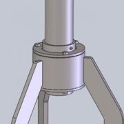 illustration of industrial mixer steady bearing