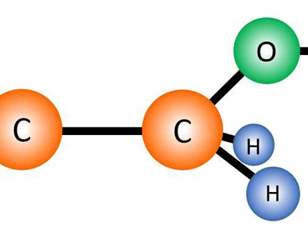 Illustration of ethanol molecule