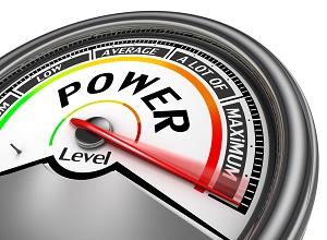 illustration power gauge on maximum power