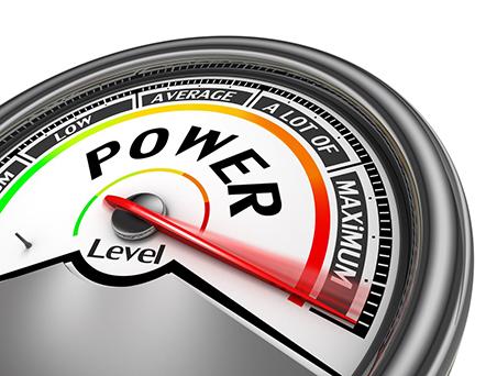 Illustration of Power Level Meter