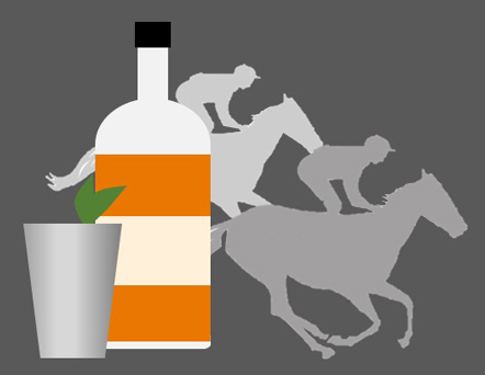 Bourbon and Race Horses Graphic