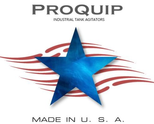 Illustration of With Blue Star and Red Stipes with Proquip Industrial Tank Agitators Made In USA copy