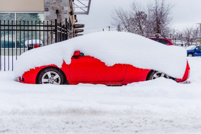 Picture of car covered in snow