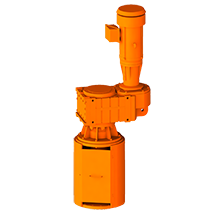 3D Rendering of ProQuip C Series Top-Entry Tank Agitator