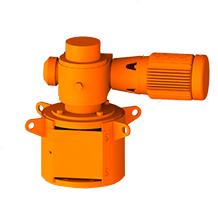 3D Rendering of ProQuip K Series Top-Entry Tank Agitator