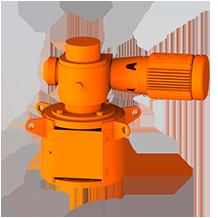3D Rendering of ProQuip K Series Top-Entry Tank Agitator