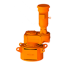 3D Rendering of ProQuip R Series Top-Entry Tank Agitator