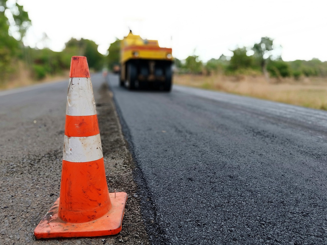 photo of asphalt road under construction