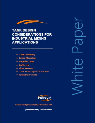 Tank Design Considerations for Industrial Mixing Applications White Paper Cover Image