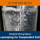 Photo of up-pumping suspended solids in small mixing tank